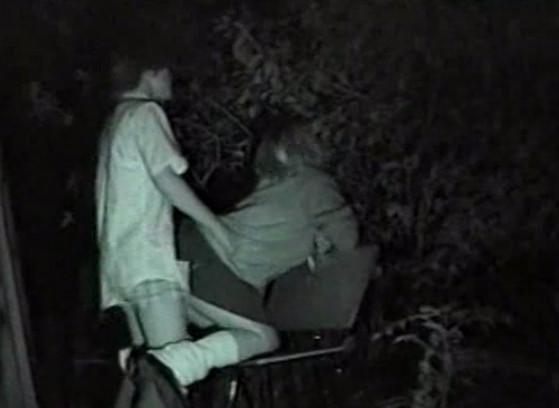 Секс на скрытую камеру на улице