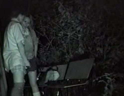 Секс на улице ночью