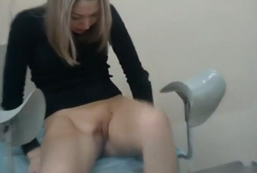 Осмотр у гинеколога порно скрытая камера