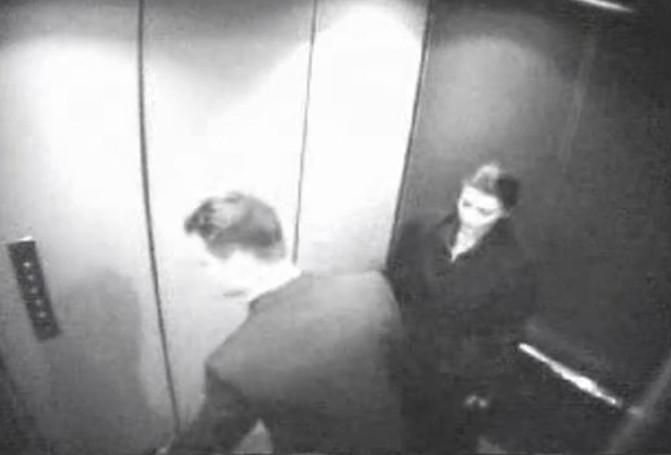 сделала минет в лифте видео скрытой камеры
