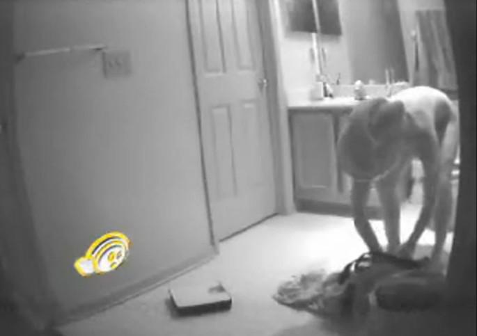 Ходит голой по квартире скрытой камерой