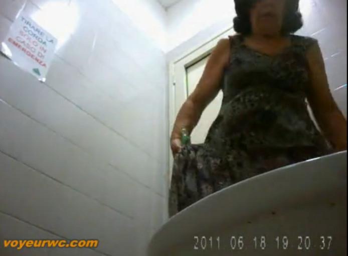 Зрелые дамы в туалете скрытая камера